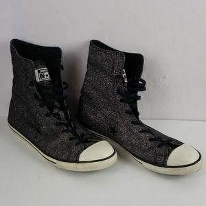 CONVERSE Black Glitter High Tops Size 10